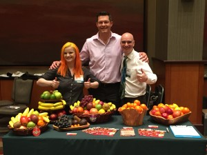 Michelle, Kevin, and Chris give the thumbs up to happy, healthy office fruit delivery in Dallas!