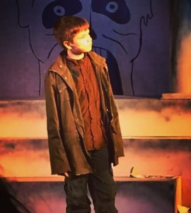 Calin as Lucius in the Plano Children's Theatre production of Julius Caesar.