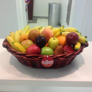 Fresh fruit in willow basket