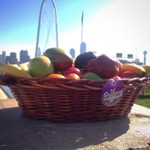 Orchard basket with Hunt Bridge